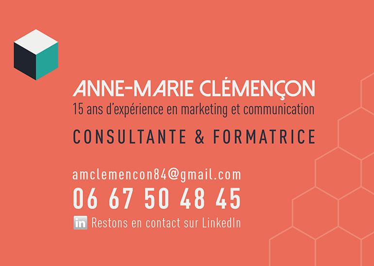 Carte De Visite Pour Anne Marie Clemencon