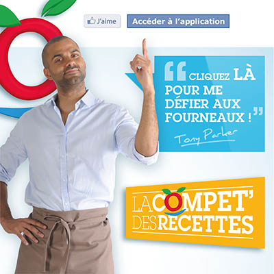 Application Facebook Toupargel avec Tony Parker