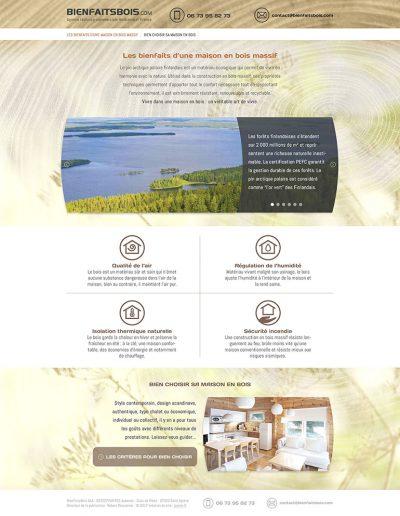 webdesign construction de maisons
