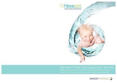 création graphique couverture plaquette produit pour Sanofi Pasteur