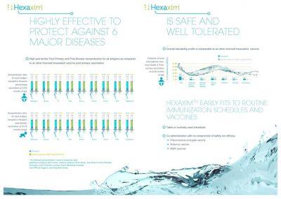création data-vision pour plaquette Hexaxim Sanofi Pasteur