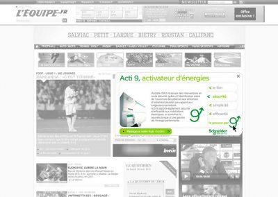 Bannière interactive Schneider Electric
