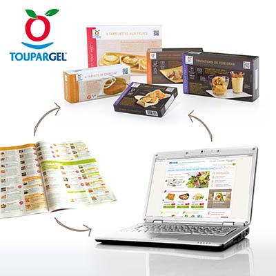 Site web e-commerce pour Toupargel