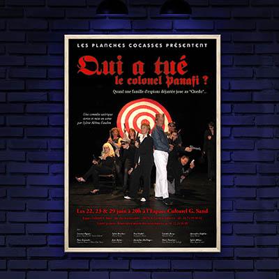 Affiches de théâtre pour les Planches Cocasses