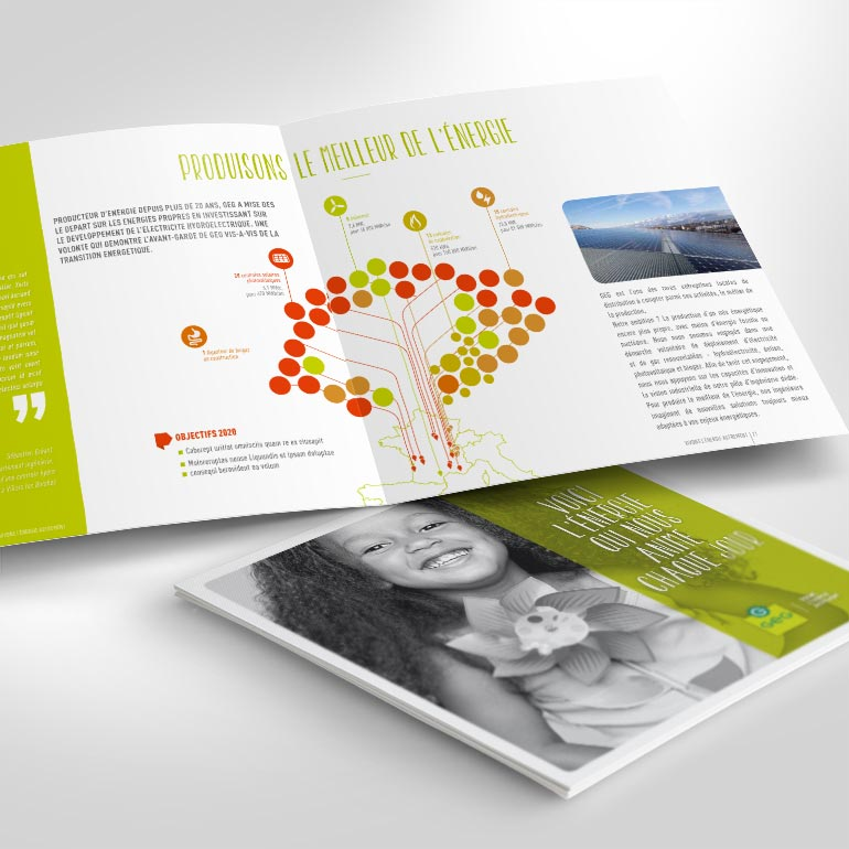 Brochure institutionnelle pour GEG