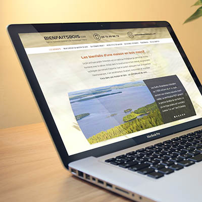 Site web responsive pour BienFaitsBois