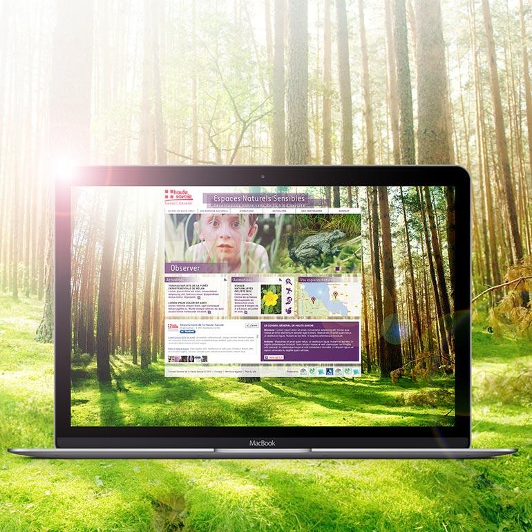Web design / Espaces Naturels Sensibles du CG74