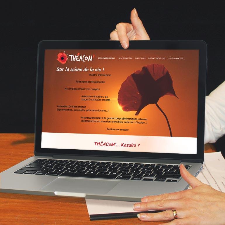 Création d'un site web pour THÉACoM'