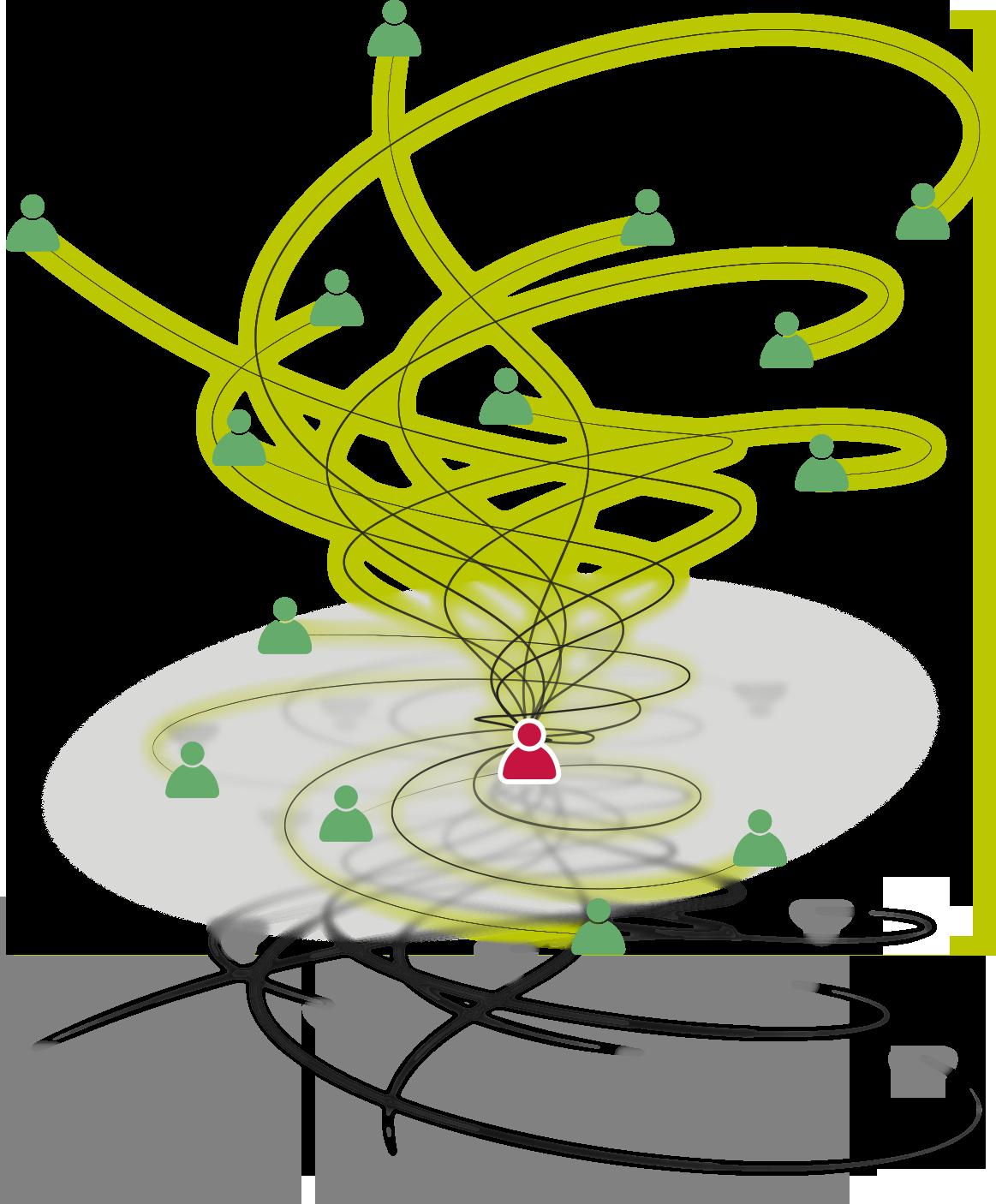 illustration moi et mon réseau