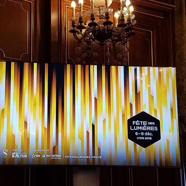 Hôtel de ville de Lyon - Fête des lumières 2018