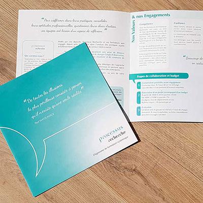 Plaquette de présentation pour Processus recherche