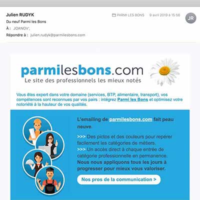 Templates d'emailing pour Parmilesbons