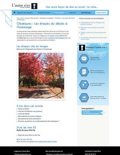 Web-design blog L'autre rive