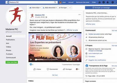 Post réseaux sociaux Facebook