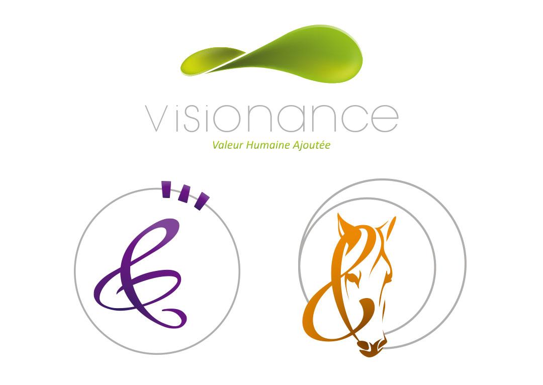 Création identités visuelles pour marques Visionance